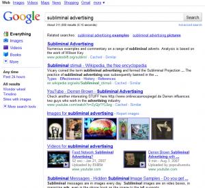 Subliminal Advertising On Google